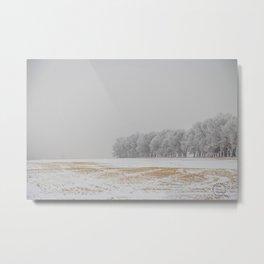 Foggy Frosty North Dakota 14 Metal Print
