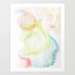 swirling bubbles Art Print