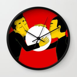 Kissing Wall Clock