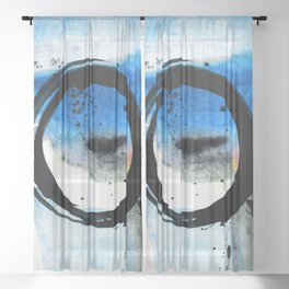 Enso Abstraction o. 113J by Kathy Morton Stanion Sheer Curtain
