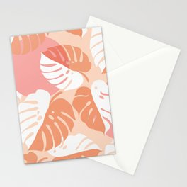 Abstraction_NEW_MONSTERA_LEAVES_BOHEMIAN_ART_003AA Stationery Cards