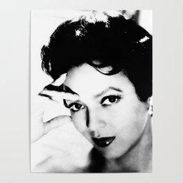 dorothy dandridge black & white photo Poster