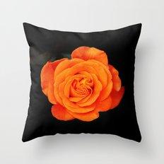 Romantic Rose Orange Throw Pillow