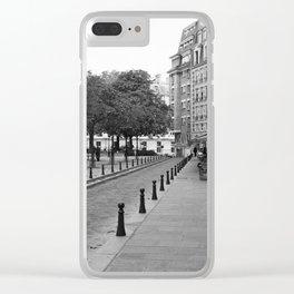 Paris in Black and White, Place Dauohine Clear iPhone Case