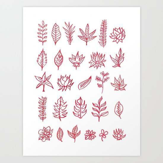 Red Autumn Art Print