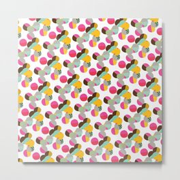 Lively Circles Scatter Pattern Metal Print