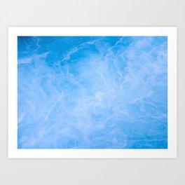 Clear Blue Sea Art Print