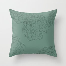 Blooming Botanical Floral Print Throw Pillow