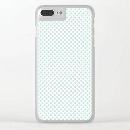 Moonlight Jade Polka Dots Clear iPhone Case