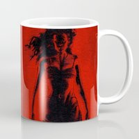 tarantino Mugs featuring Cherry Darling by Rouble Rust