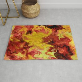 Wall of fire  Rug