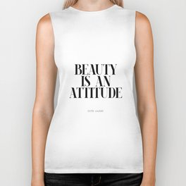 Beauty is an attitude – Quote Biker Tank