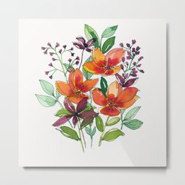 Orange and red wild flower Metal Print
