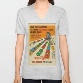 1970 American Issue Vintage Hot Wheels Redline Factory Poster Unisex V-Neck