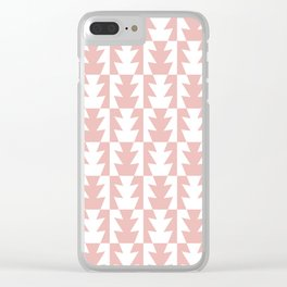 Art Deco Jagged Edge Pattern Dusty Rose Clear iPhone Case