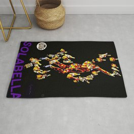 Vintage 1920's Leonetto Cappiello  IsolaBella Lithograph Advertising Wall Art Style 3 purple text Rug