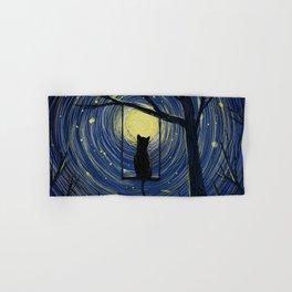 starry cat night Hand & Bath Towel