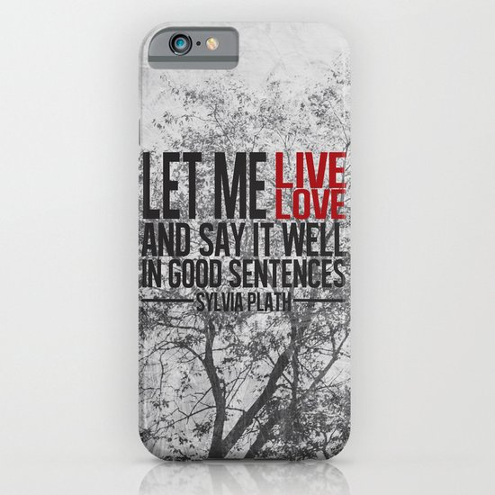 let me live. iPhone & iPod Case