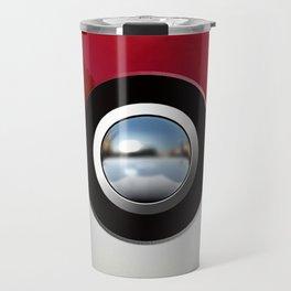 Red Chrome Monster ball Travel Mug