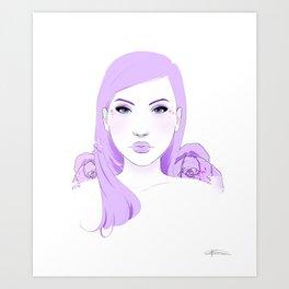 Lilac Love Art Print