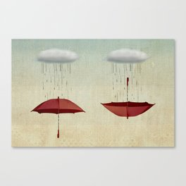 embracing the rain Canvas Print