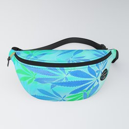 Blue Mint Cannabis Swirl Fanny Pack