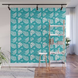 Hand Drawn tropical Foral background Wall Mural