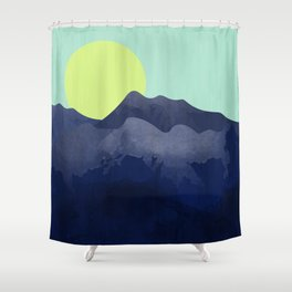 Sunset Mountain Shower Curtain