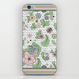 60s floral framed iPhone Skin