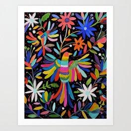 pajaros Otomi Art Print