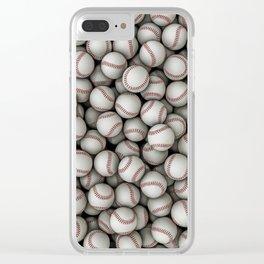 Baseballs Clear iPhone Case