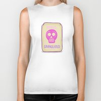 sugar skulls Biker Tanks featuring Sugar Skulls by Deesign