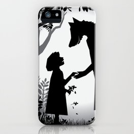 Meeting The Wolf iPhone Case