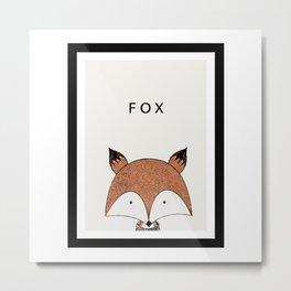 Cute hand drawn fox design Metal Print