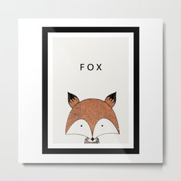 Cute hand drawn fox design Metal Print