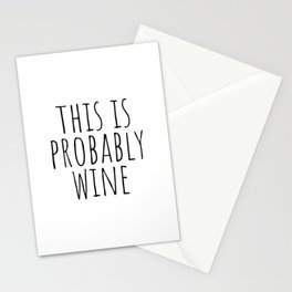 This is probably wine Stationery Cards