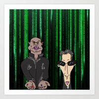 matrix Art Prints featuring Matrix by flydesign