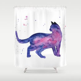 Cat in Space Shower Curtain