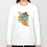 magical girl Long Sleeve T-shirts featuring Magical Girl Gladiolus by Anna Landin