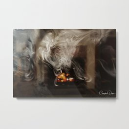 Painting with Smoke - The Lioness Metal Print