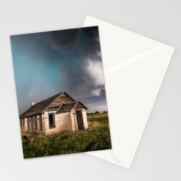 Pioneer - Abandoned Settlement Under Storm On Colorado Plains Stationery Cards