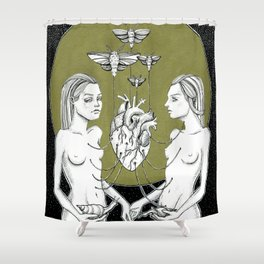 Two souls. Connection Shower Curtain