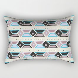 Abstract modern hand painted geometrical watercolor pattern Rectangular Pillow