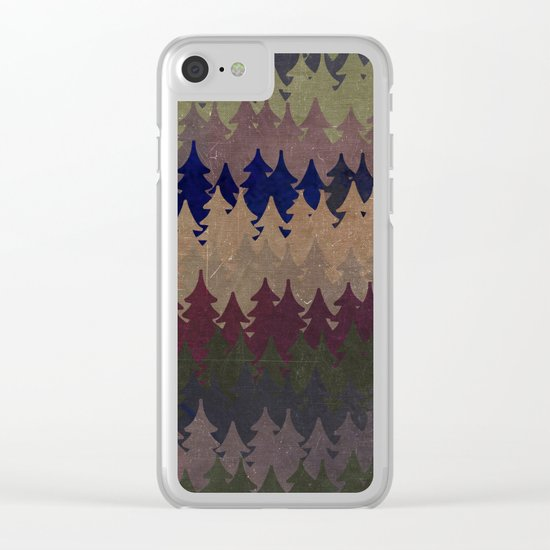 The secret forest at late afternoon- Abstract tree pattern Clear iPhone Case