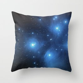 The Pleiades Star Cluster Throw Pillow
