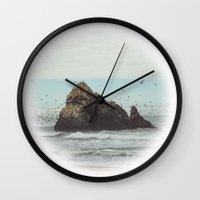 flight Wall Clocks featuring Flight by Charley Zheng