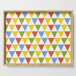 triangle abstract ethnic pattern Serving Tray