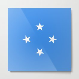 Micronesia country flag Metal Print