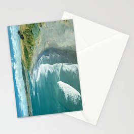 The famous Raglan beach, New Zealand Stationery Cards