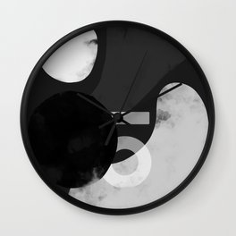 Branded Abstract B/W 1 Wall Clock
